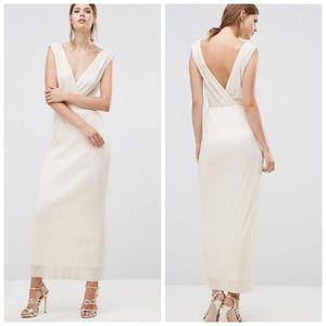 Oh My Love London Crecian Wrap Maxi Dress Medium
